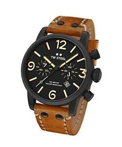 Brand New TW Steel Men's MS34 TW Steel Maverick Analog Display Quartz Brown Watch
