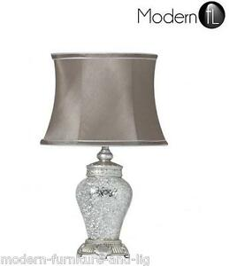 ... -Antico-Regency-Lampada-Argento-Specchio-Mosaico-Comodino-Lampada