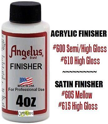 1 Angelus Paint Acrylic Leather Finisher Finish Satin Semi-Gloss High Gloss 4oz