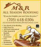 M&R ALL SEASON ROOFING & PLOWING