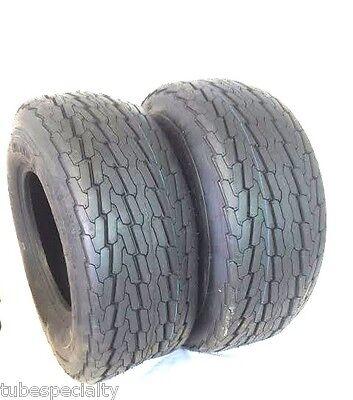 2 (TWO) 20.5x8-10 PONTOON 20.5x8.00-10 10 PR Load E Heavy Duty Trailer Tire