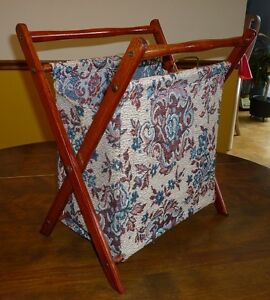 Tapestry folding knitting/wool caddy
