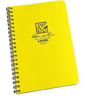 Rite In The Rain 313 All-weather Level Spiral Notebook 4 58 X 7