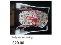 Baby rocker swing