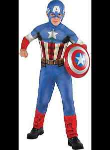 Captain America Boy Costume Size Large (12-14)