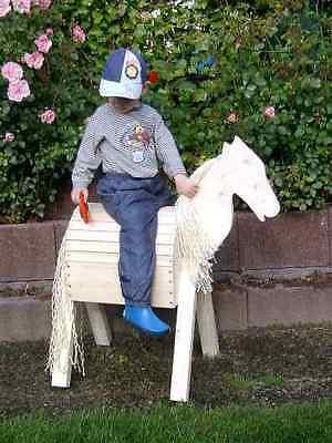 Mini Holzpferd Voltigierpferd Holzpony Pferd Pony -neu-