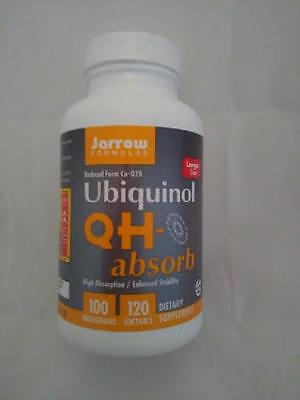 Jarrow Ubiquinol Qh Absorb   100 Mg   120 Softgels  Exp 2020