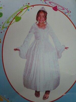 Snow Princess Kinder Kostüm Größe L Mädchen Schnee Prinzessin - Schnee Mädchen Kostüm