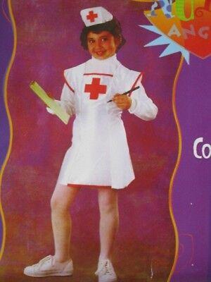 Krankenschwester Kostüm für Mädchen Größe S 3 bis 4 Jahre Kinder Karneval - Krankenschwester Kostüm Kind