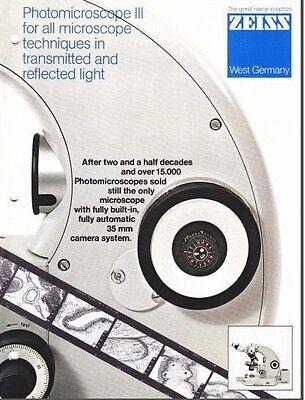Zeiss Photomicroscope Iii Microscope Brochure On Cd L0192