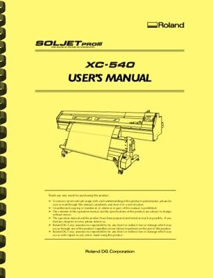 Roland Soljet Pro Iii Xc540 Printer Cutter Owners Manual