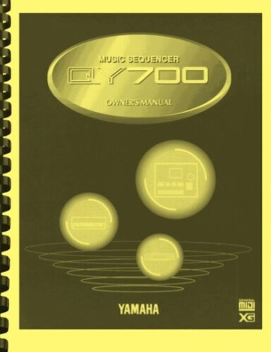 Yamaha QY700 Music Sequencer OWNER