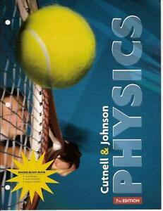 Physics Textbook Cutnell and Johnson 7th edition
