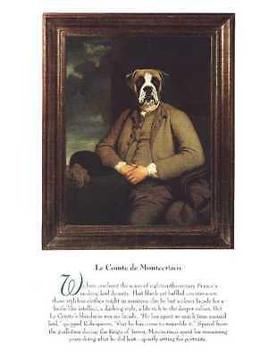 Boxer Uncropped - Vintage Dog Art Print - Poncelet