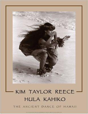 "Kim Taylor Reece /""Kakahi/"" 11 X 14 Double Matted Hawaiian Hula Print New"