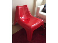IKEA Red Plastic Chair