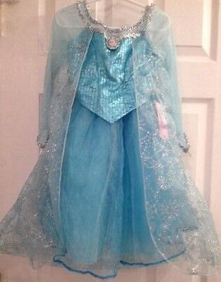 Disney Parks Elsa Kostüm (Authentic DISNEY PARKS World Land Frozen Princess ELSA Fancy Dress COSTUME 10/12)