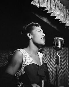 1947 Jazz Singer BILLIE HOLIDAY Glossy 8x10 Photo Reprint Songwriter Photograph