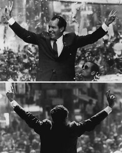 1968-Victory-Salute-RICHARD-NIXON-Glossy-8x10-Photo-Political-Campaign-Print