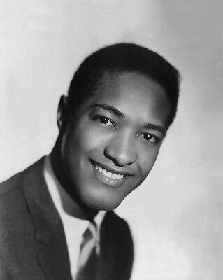 1950s American Soul Singer SAM COOKE Vintage 8x10 Photo Glossy Musical Portrait