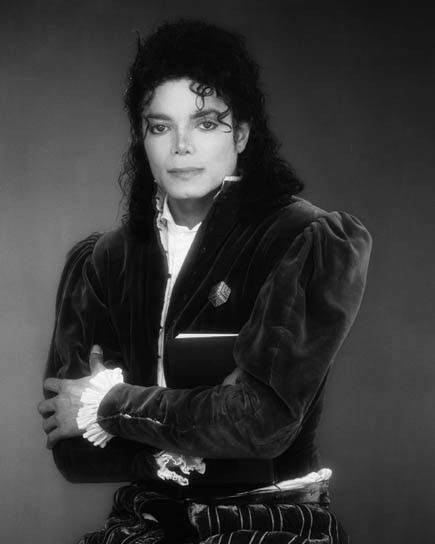 Glossy Photo Picture 8x10 1990 King Of Pop Michael Jackson Black And White