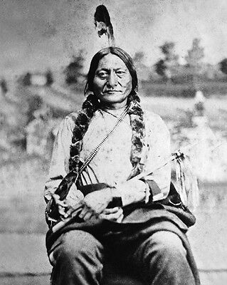 1880s Native American Indian CHIEF SITTING BULL Glossy 8x10 Photo Sioux Print