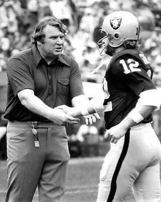 (1970 Oakland Raiders JOHN MADDEN & KEN STABLER 8x10 Photo NFL Football Print )