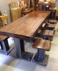 WOODEN FURNITURE - I-Beam pine furniture from $140 per stool. Burleigh Heads Gold Coast South Preview