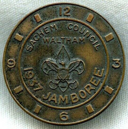 Boy Scouts of America 1937 Jamboree Neckerchief Slide by Waltham Watch Co