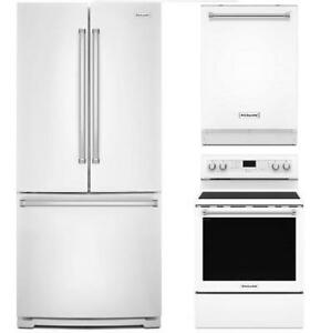 Refrigerator/ Range/ Dishwasher trio, KitchenAid Save Taxes !!