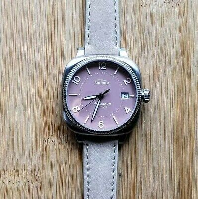 Shinola Gomelsky 36mm Watch, Baby Pink Face & Bone White Leather Band