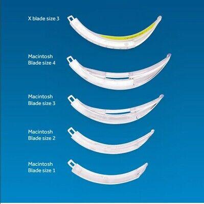 Mcgrath Laryngoscope Mac 1 2 3 4 Disposable Blades 4 Pack