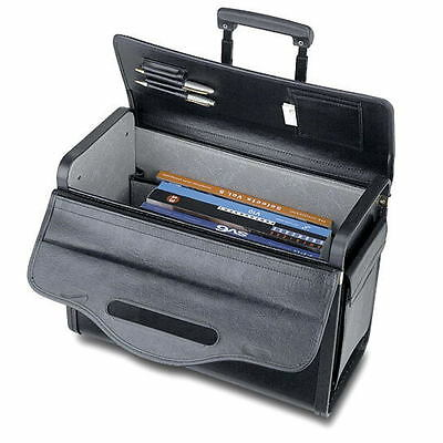 19 Rolling Catalog Pilot Case Wheeled Attache Briefcase Sample Lawyer Carry On