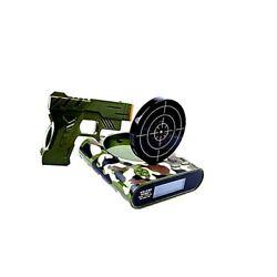 DELIWAY Newwest Version Novelty USB Gun Alarm Clock Funny Target Shooting ..