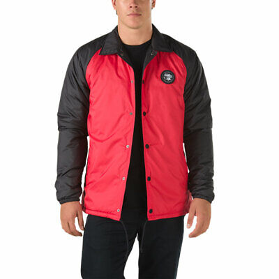 THE NORTH FACE X VANS TORREY THERMOBALL DOWN COACH JACKET MENS S BLACK RED TNF
