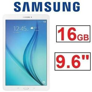 "REFURB SAMSUNG GALAXY TAB E SM-T560NZWUXAC 200399271 9.6"" 16GB TABLET ANDROID WHITE REFURBISHED"