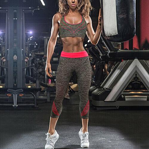 2-Piece: Gym Fitness Workout Sports Bra & Capri Leggings Set