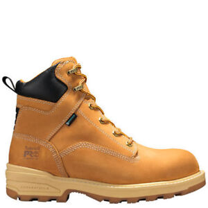"SIZE 7 :Timberland PRO Men's 6"" Inch Resistor Comp Toe WP INS ."