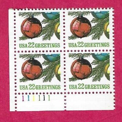 SCOTT 2368 22 CENT 1987 ORNAMENT PLATE BLOCK - $1.85 AND FREE SHIPPING