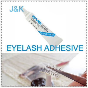Eye False Eyelash Lash Adhesive Glue Waterproof Clear White EG0001