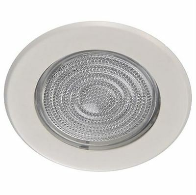 5 Inch Glass Shower Trim White For Recessed Can Light