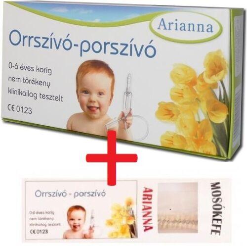 ARIANNA Baby Vac Vacuum Nasal Aspirator Nose Cleaner + BRUSH Orrszivo porszivo