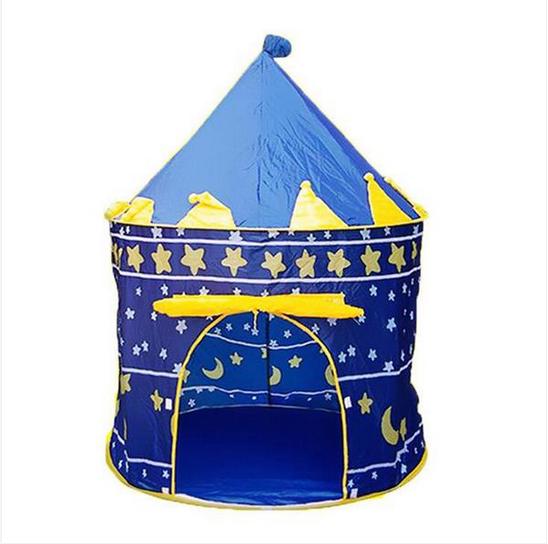 Portable Folding Blue Play Tent Children Kids Castle Cubby P