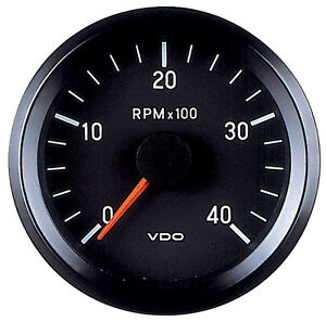 VDO Electronic 12V 80mm Tachometer 0-4000rpm 333 015 038