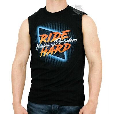 Harley-Davidson Mens Power Extreme Ride Hard Black Sleeveless Muscle T-Shirt