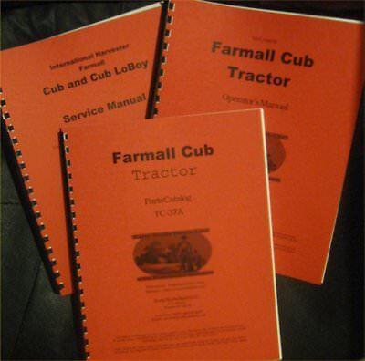 Farmall Cub Operator Parts And Service Manuals Set Of 3