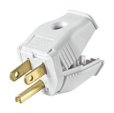 Leviton 3W101-WH 3-Wire Plug 15A-125V NEMA 5-15 - White