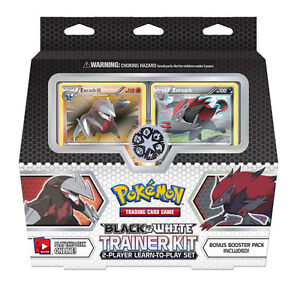 Zoroark Pokemon Black and White Trainer Kit 2-Player Deck Set Cards inc. Booster