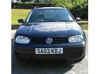 03 VW Golf 1.9 sdi Estate 11 months MOT