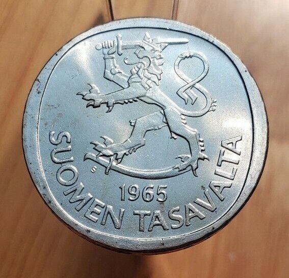 1964-S (BU) Finland One Markka World Silver Coin